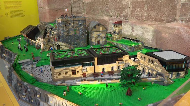Le château de Lichtenberg reconstitué en briques Lego (France 3 Alsace)