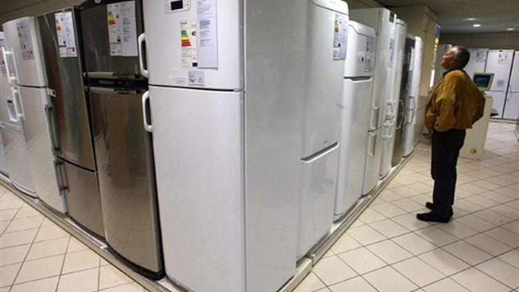 Vente de réfrigérateurs (AFP/MARTIN BUREAU)
