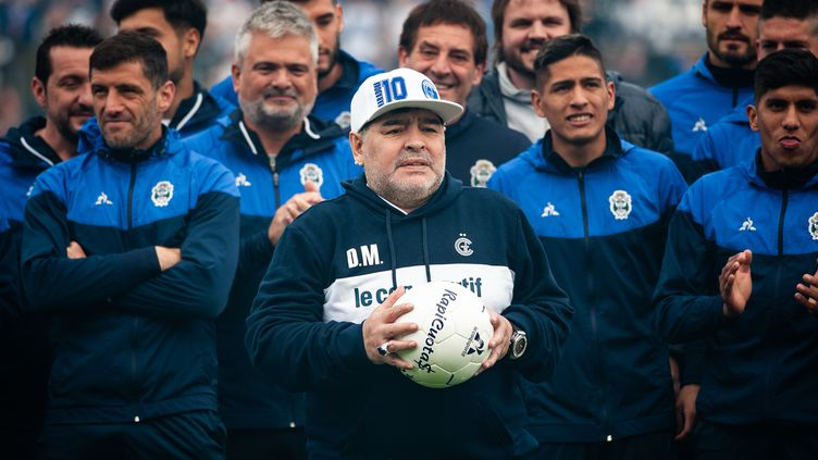 Diego Maradona, le 8 septembre 2019 près de Buenos Aires. (MANUEL CORTINA / NURPHOTO / AFP)
