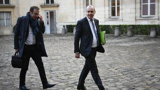 Lesecrétaire général de la CFDT Laurent Berger au ministère du Travail, à Paris, le 7 janvier 2020. (LIONEL BONAVENTURE / AFP)