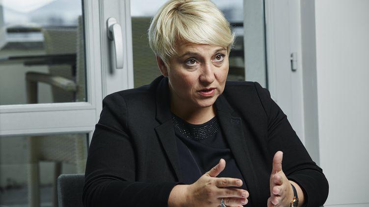 Pascale Boistard, alors secrétaire d'Etat aux Droits des femmes, le 22 septembre 2015, à Paris. (BRUNO LEVY / CHALLENGES-REA)