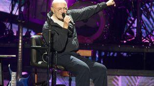 Le chanteur Phill Collins lors d'un concert à Philadelphie (Etats-Unis) le 8 octobre 2018. (OWEN SWEENEY / INVISION / AP)