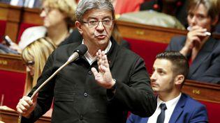 Jean-Luc Mélenchon, le 28 juin 2017 à l'Assemblée nationale. (GEOFFROY VAN DER HASSELT / AFP)