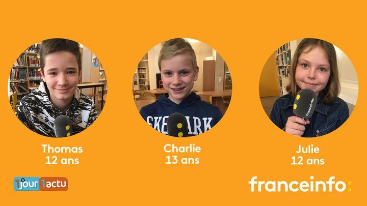 Franceinfo junior, une émission en partenariat avec le magazine d'actualités pour enfants 1jour1actu et 1jour1actu.com. (ESTELLE FAURE / FRANCEINFO - RADIOFRANCE)