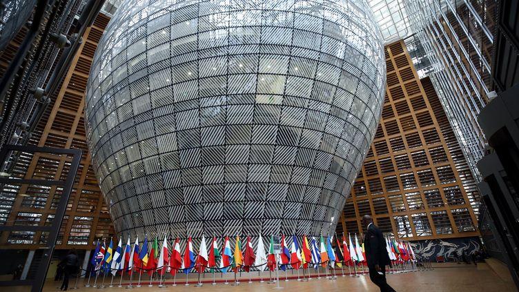 Le siège du Conseil de l'Union européenne à Bruxelles (Belgique), le 13 avril 2018. (DURSUN AYDEMIR / ANADOLU AGENCY / AFp)