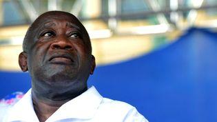 Laurent Gbagbo le 26 novembre 2010 à Abidjan (Côte d'Ivoire), lors de la campagne électorale ayant précédé la crise politique de 2011. (SEYLLOU DIALLO / AFP)