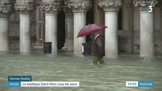 À Venise, la basilique Saint-Marc est sous les eaux