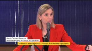 Agnès Pannier-Runacher, ministre déléguée auprès du ministre de l'Économie, des Finances et de la Relance, chargée de l'Industrie sur franceinfo, le 21 décembre 2020. (FRANCEINFO / RADIOFRANCE)
