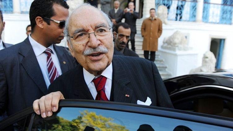 Le président tunisien par intérim, Foued Mebazaa, le 15 janvier 2011 à Tunis (AFP - FETHI BELAID)
