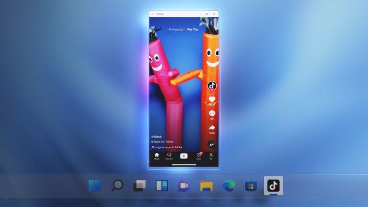 L'application TikTok par exemple, est désormais utilisable sur les ordinateurs Windows. (MICROSOFT)
