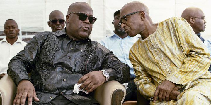 Félix Tshisekedi ( à gauche sur la photo). Le fils de l'opposant historique congolais souhaite qu'un mausolée en mémoire de son père soit érigé au centre de Kinshasa.  (Photo Reueters Robert Carrubba)