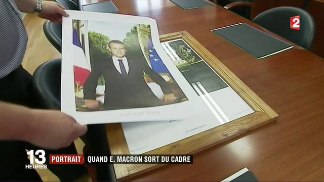Le portrait officiel d'Emmanuel Macron sort du cadre
