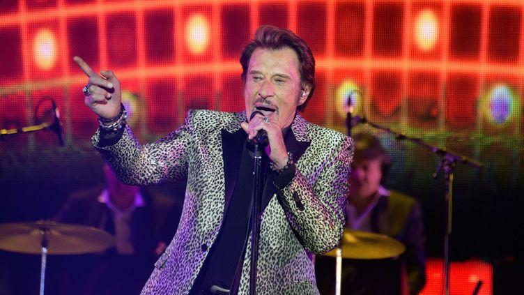 "Johnny Hallyday en concertau Palais Omnisports de Paris-Bercy (avec ""Les Vieilles Canailles"") le 6 novembre 2014. (SIPA/SIPA)"