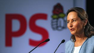 Ségolène Royal, lors de son discours à l'université d'été de La Rochelle (Charente-Maritime), le 23 août 2013. (XAVIER LEOTY / AFP)