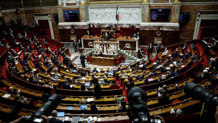 L'hémicycle de l'Assemblée nationale, le 29 octobre 2020. (MAXPPP)