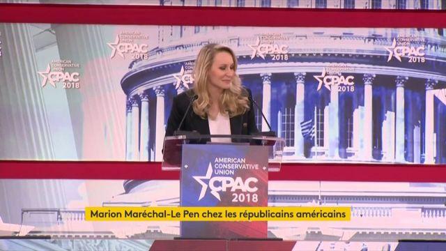 Marion Maréchal-Le Pen devant les conservateurs américains