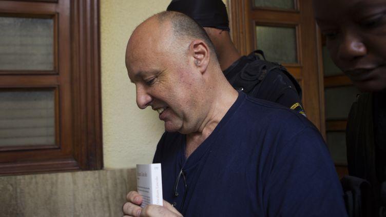 Christophe Naudin, le 17 mai 2017, au tribunal de Saint-Domingue. (ERIKA SANTELICES / AFP)