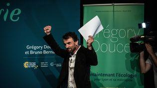 Grégory Doucet, élu maire de Lyon, le 28 juin 2020. (JEFF PACHOUD / AFP)