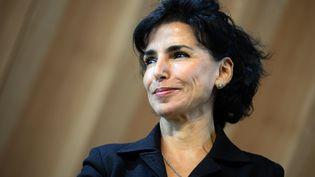 Rachida Dati, lors d'une réception à la Tour Eiffel, à Paris, le 6 octobre 2014. (LIONEL BONAVENTURE / AFP)