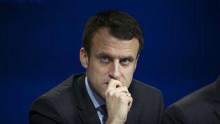 Emmanuel Macron lors d'une conférence de presse à Paris, le 9 février 2016. (PATRICE PIERROT / CITIZENSIDE.COM / AFP)