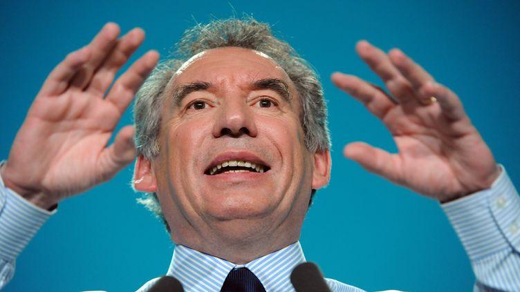 François Bayrou, le 6 avril 2012. (JEAN-FRANCOIS MONIER / AFP)