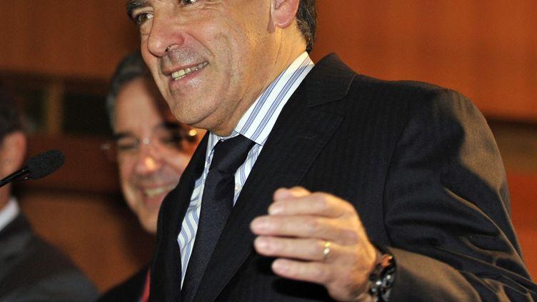 Le premier ministre, François Fillon, lors d'une visite officielle à Tokyo (Japon), le 22 octobre 2011. (YOSHIKAZU TSUNO / AFP)