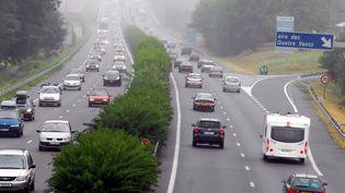 L'auroroute A10 au niveau de Poitiers (Vienne), le 2 août 2008. (MAXPPP)