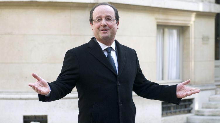 Le président de la République, François Hollande, à Paris, le 18 décembre 2013. (ALAIN JOCARD / AFP)