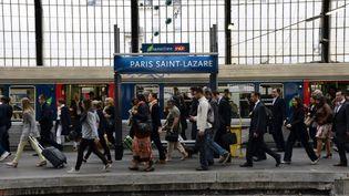 La gare Saint Lazare, à Paris, le 17 juin 2014. (BERTRAND GUAY / AFP)