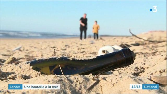 Landes : l'histoire d'une bouteille jetée à la mer