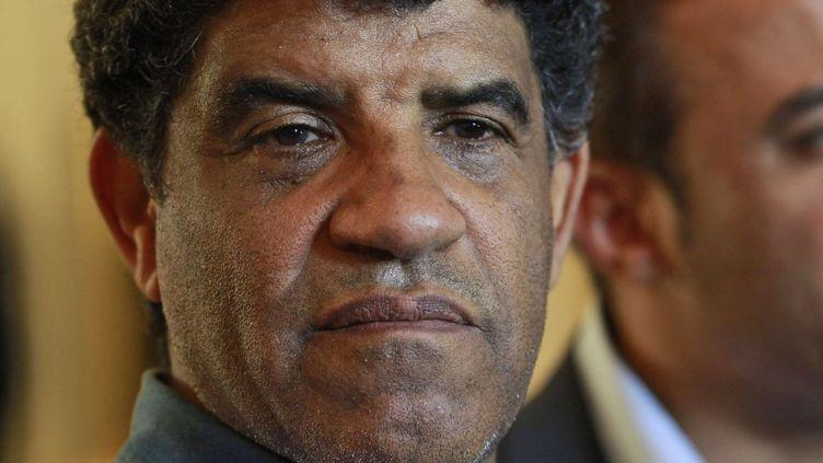 Abdallah Al-Senoussi, le 21 août 2011 à Tripoli. (DARIO LOPEZ-MILLS / AP / SIPA)