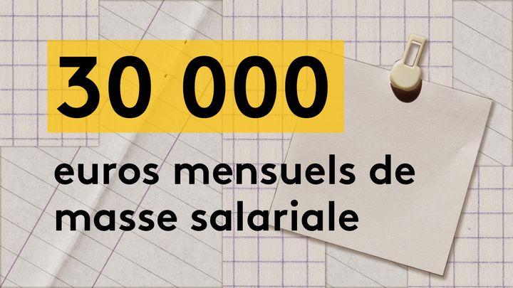 Le coût de revient mensuel des 15 salariés est environ équivalent à 30 000 euros, charges comprises. (JESSICA KOMGUEN / FRANCEINFO)