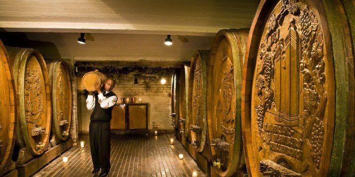 Une cave à vin dans la région du Cap, baptisée «la route du vin». (Photo AFP/Emilie Chaix)