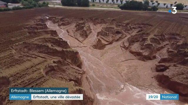 Floods in Germany: Erfstadt-Fleische municipality devastated by a landslide