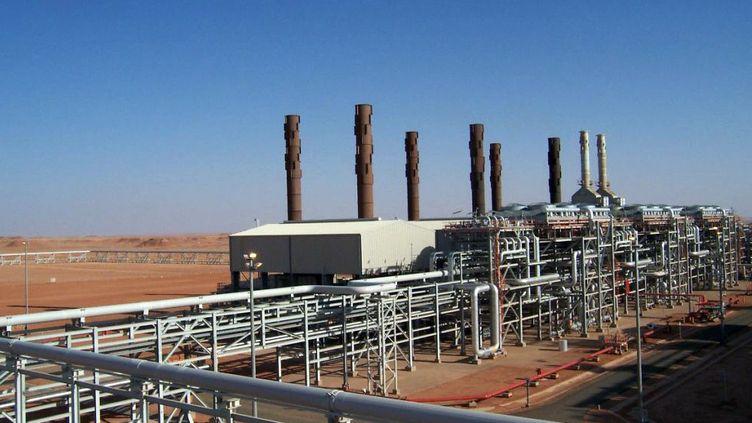 Le site gazier d'In Amenas, dans le sud de l'Algérie, où des jihadistes ont pris plusieurs dizaines de personnes en otage, le 16 janvier 2013. (BP PETROLEUM / AFP)