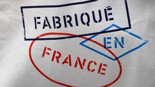 """Le logo """"made in France"""" présenté à l'Elysée, le 2 juillet 2021. (AFP)"""