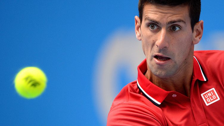 Novak Djokovic a facilement passé le premier tour à Pékin (GOH CHAI HIN / AFP)