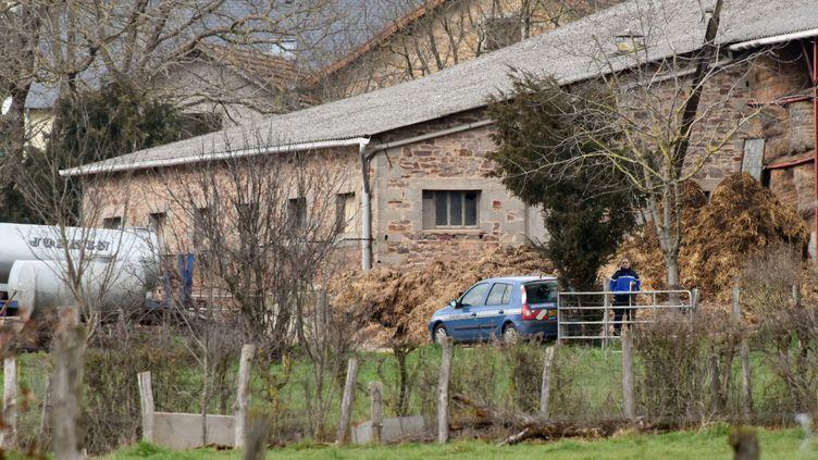 La ferme où a été tuée une conseillère agricole, dans le lieu-dit LesFarguettes, à Mayran (Aveyron), le 17 février 2016. (JOSE A. TORRES / AFP)