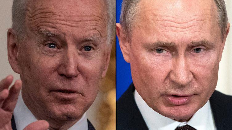 Joe Biden (G), Vladimir Poutine (D). (ERIC BARADAT / POOL / AFP)