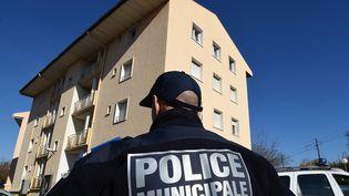 Un policier municipal, le 22 janvier 2015, à Béziers (Hérault). (PASCAL GUYOT / AFP)