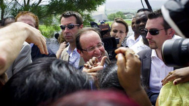 François Hollande à La Réunion (1er avril 2012) (FRED DUFOUR / AFP)