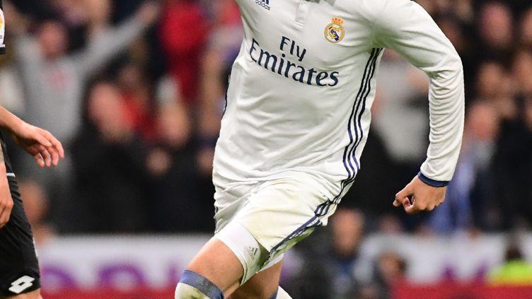 Le buteur du Real Madrid, Alvaro Morata (PIERRE-PHILIPPE MARCOU / AFP)