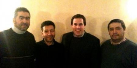 """Laurent Louis (3e à gauche) a fait partie d'""""Islam"""" en septembre 2013. Il dirige actuellement Debout les Belges...parti situé à l'extrême-droite. (DR / capture d'écran)"""
