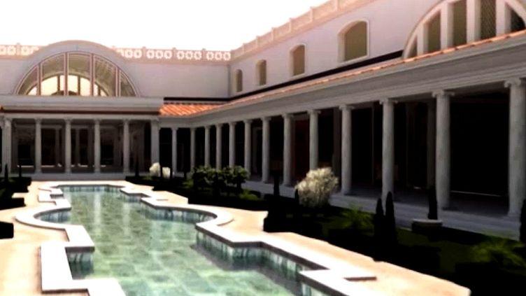 Visite virtuelle du Palais de Néron à Rome grâce à des lunettes 3D  (France 2 / Culturebox)