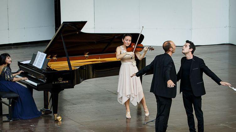 """""""La Symphonie des oiseaux"""" - Shani Diluka - Geneviève Laurenceau - Johnny Rasse - Jean Boucault - Parc du Château de Florans  (Christophe Grémiot)"""