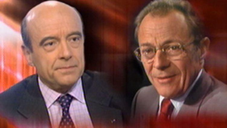 Les anciens Premiers ministres Michel Rocard (socialiste) et Alain Juppé (UMP). (© France 2)