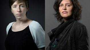 Caroline De Haas (à gauche) et Myriam El Khomri (à droite), candidates aux élections législatives (JOEL SAGET / AFP)