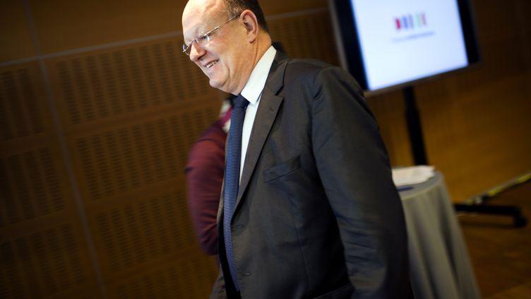 Rémy Pflimlin, PDG de France Télévisions, le 14 novembre 2011. (FRED DUFOUR / AFP)