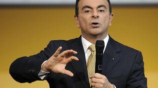 Carlos Ghosn, le 14 février 2008 à Paris. (MUSTAFA YALCIN / ANADOLU AGENCY / AFP)
