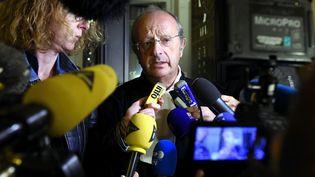 Gérard Welzer,l'avocat de la veuve de Bernard Laroche dans l'affaire Grégory, le 24 septembre 2015. (/NCY / MAXPPP)
